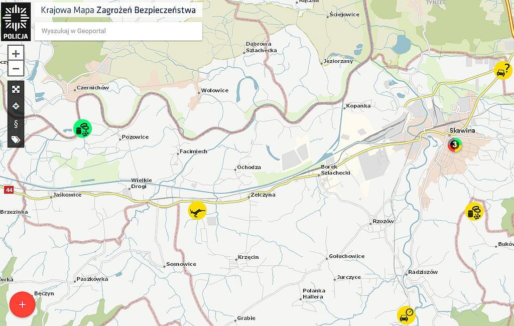 Mapa_Zagrozen_Skawina_Policja