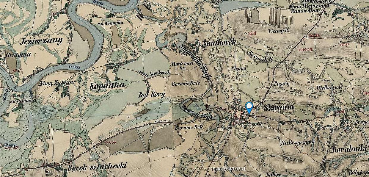 Gmina Skawina Na Starodawnych Mapach Z Xix Wieku Infoskawina